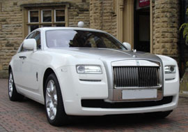 Rolls Royce Ghost Wedding Car Hire Sheffield